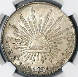 1881-As NGC MS 62 Mexico 8 Reales Rare Alamos Mint State Silver Coin (19020506C)