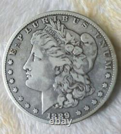 1889 CC Morgan Silver Dollar Rare Carson City Mint AU Old Coin