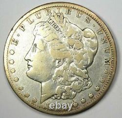 1893-CC Morgan Silver Dollar $1 Fine / VF Details Rare Carson City Coin