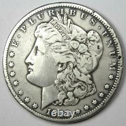 1893-CC Morgan Silver Dollar $1 VF Details Rare Carson City Coin