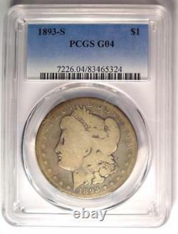1893-S Morgan Silver Dollar $1 PCGS G4 (Good) Rare Key Date Certified Coin