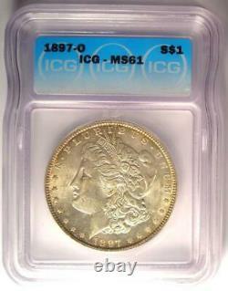 1897-O Morgan Silver Dollar $1 Coin ICG MS61 (Rare in UNC BU) $1,590 Value
