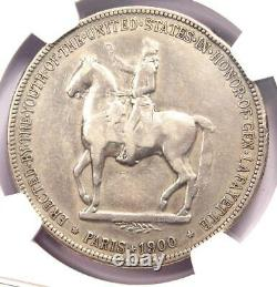 1900 Lafayette Silver Dollar $1 NGC VF Details Rare Certified Coin
