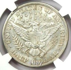 1900-S Barber Half Dollar 50C Coin Certified NGC AU Details Rare Date