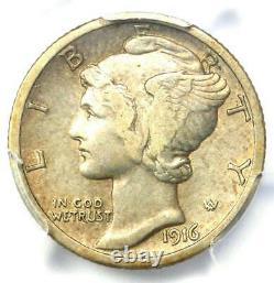 1916-D Mercury Dime 10C Coin Certified PCGS XF Details (EF) Rare Key Date