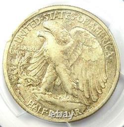 1916-D Walking Liberty Half Dollar 50C Coin Certified PCGS XF45 Rare Date