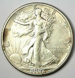 1918-S Walking Liberty Half Dollar 50C Coin AU Details Rare Date