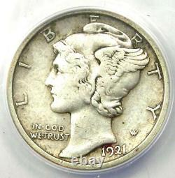 1921-D Mercury Dime 10C Coin Certified ANACS VF30 Rare Key Date