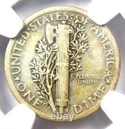 1921 Mercury Dime 10C Coin Certified NGC F15 Rare Key Date