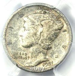 1921 Mercury Dime 10C Coin Certified PCGS VF30 Rare Key Date