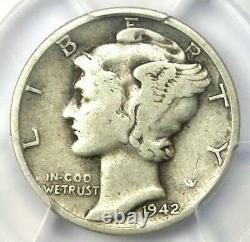 1942/1-D Mercury Dime 10C PCGS VG Detail Rare Overdate Variety Coin