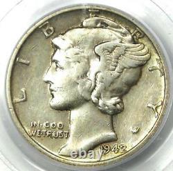 1942/1 Mercury Dime 10C Certified PCGS XF40 (EF40) Rare Overdate Coin
