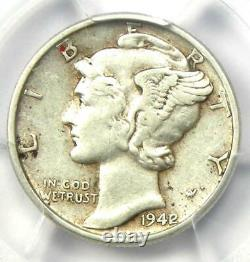 1942/1 Mercury Dime 10C Certified PCGS XF Detail Rare Overdate Variety Coin