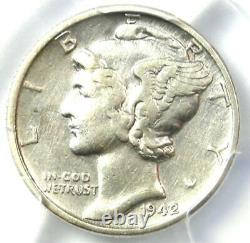 1942/1 Mercury Dime 10C PCGS XF Details (EF) Rare Overdate Variety Coin