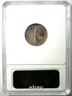 1942/1 Mercury Dime 10C Rainbow Coin ANACS AU Details Rare Overdate Variety