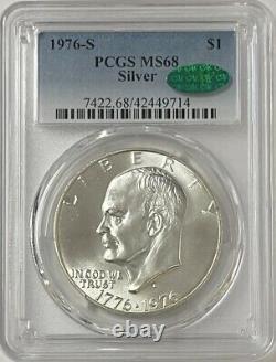 1976-S Eisenhower 40% Silver Dollar PCGS MS-68 CAC VERY RARE LOOKS like MS69