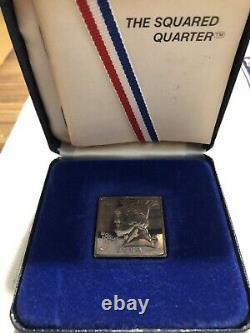 1984 Square Washington Quarter 1/2 Oz Silver Coin (Mintage 602) Extremely Rare
