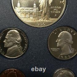 1986 (s) Prestige 7 Coin San Francisco Proof Set Rare First Year Of Eagle