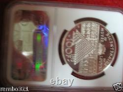 1993 France French 100 Francs. 999 Silver Mona Lisa NGC PF68 Unique Coin RARE