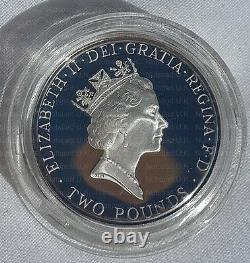 1996 £2 Silver Proof Coin European Football Championships Two Pounds Rare