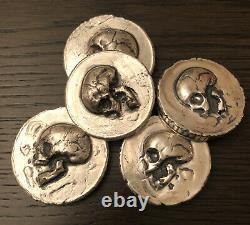 (1) Mk Barz. 999+ FS 3 Oz RARE Hand Poured Silver Bullion Pirate Coin
