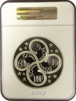2003 FRANCE THE GODDESS EUROPA Huge 1 KILO Kg SILVER 50 EURO COIN NGC PF68 Rare
