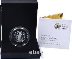 2009 KEW Coin Silver Proof KEW Gardens 50p Royal Mint Rare 20,000 Minted