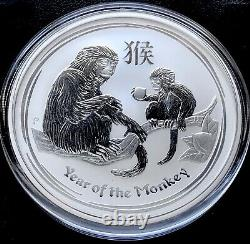 2016 Australian Lunar Series II Year Of The Monkey 2 oz 9999 Silver BU Coin Rare