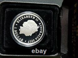 2017 1oz Australian Silver Swan Bullion Coin From Perth Mint PROOF! Rare