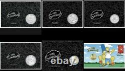 2019-2021 The Simpsons 16 Coin Collection-16.5oz Of Silver + PNCRare Set
