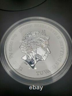2021 5 oz Silver Gods of Olympus BU Zeus 450 MINT (RARE) withCOA
