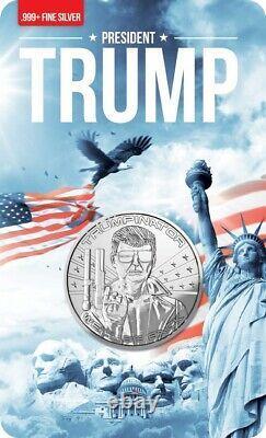 2024 TRUMPINATOR We'll Be Back 1oz Fine Silver Proof Round Coin Trump RARE