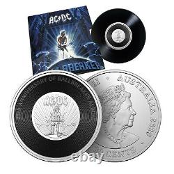 AC/DC Gifts for Men Vinyl Collectable Rare Silver Coin Collection Crate
