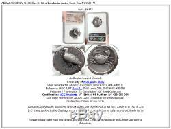 AKRAGAS SICILY 464BC Rare R1 Silver Tetradrachm Ancient Greek Coin NGC i66475
