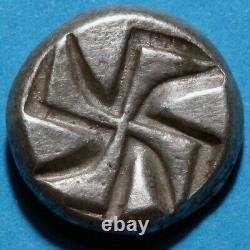 Ancient Greek Coin Silver Drachm-Thrace Apollonia Pontika CA 450 BC-RARE