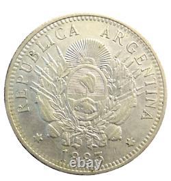 Argentina Silver Coin 50 Centavos 1883 Xf Rare High Grade Km 28 1/2 Patacon