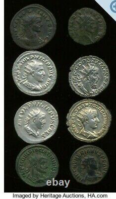 Authentic Ancient Roman Emp. Aurelian Silvered Coin 18k Gold Pendant Bezel Rare