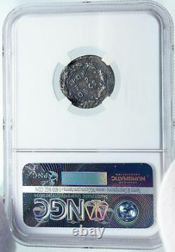 CLAUDIUS very rare DENARIUS 49AD Ancient Silver Roman Coin NGC Certified i86171