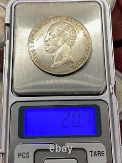 Coin 1 ruble 1859 Russian Empire monument Alexander 1 silver rare ORIGINAL 100%