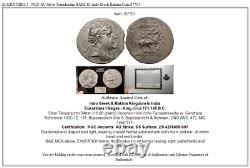 EUKRATIDES I NGC AU Silver Tetradrachm RARE R1 Indo Greek Baktria Coin i57701