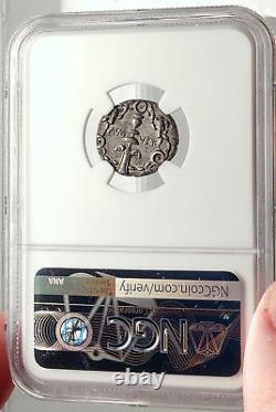 GAIUS CAESAR adopted heir of AUGUSTUS Rare 17BC Silver Roman Coin NGC i69588