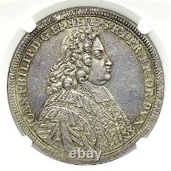 German States Wurzburg 1702 Taler Coin Thaler NGC MS62 VZ/F. STG UNC RARE TOP POP