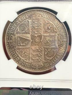 Great Britain 1847 Gothic Crown, Extremely Rare NGC PF65, beautiful coin