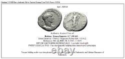 Hadrian 118AD Rare Authentic Silver Ancient Roman Coin PAX Peace i58516