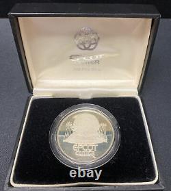 Jm Johnson Matthey Epcot Center Walt Disney World 1982 Rare. 999 Silver Coin