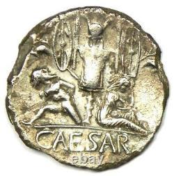 Julius Caesar AR Denarius Silver Coin 46 BC (Venus) NGC XF (EF) Rare