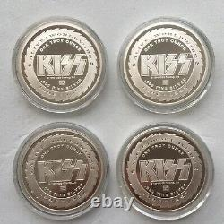 Kiss Alive Worldwide Tour 1996-1997 Silver Coin Set(rarely Available)new! Coa