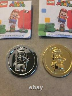 Lego Mario COIN RARE LIMITED EDITION GOLD AND SILVER in hand ship now Sealed
