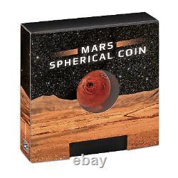 Mars Spherical 1oz Silver Coin 2021 $5 Dollars Barbados Rare & Very Collectable