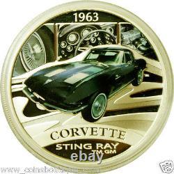 Mercedes-Benz, Lamborghini, Corvette, Jaguar, Datsun 5 x 1oz Silver Coins Set RARE